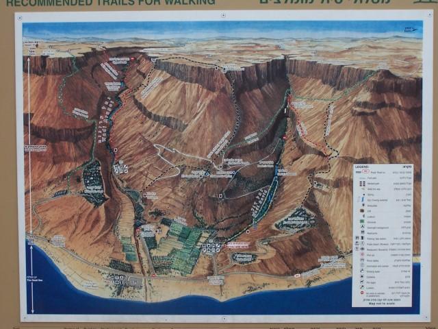 Map, En Gedi Springs Reserve