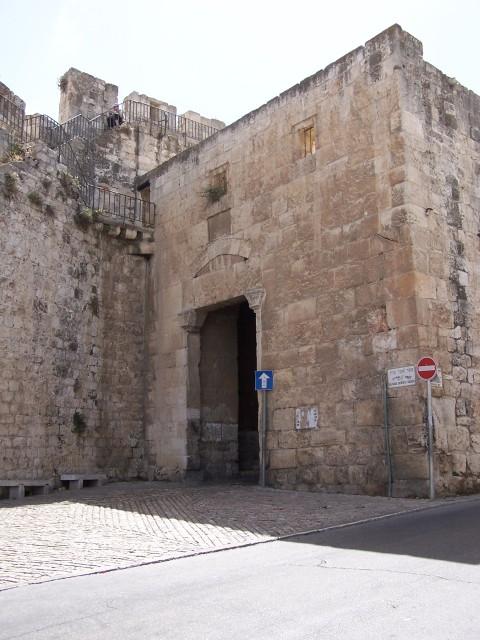 Inside the city - Zion Gate