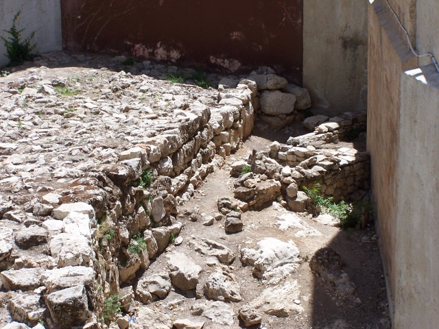 Another view of the houses corner.  2 Chronicles 32:5 And he took courage and rebuilt all the wall that had been broken down and erected towers on it, and built another outside wall and strengthened the Millo in the city of David, and made weapons and shields in great number.