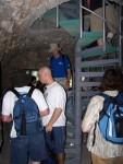Descending into Hexekiah's tunnel entrance