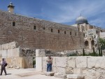 South Temple Mount Wall with later Palace ruins