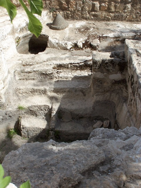 A Mikvah,  used for full imersion ceremonial cleansing.