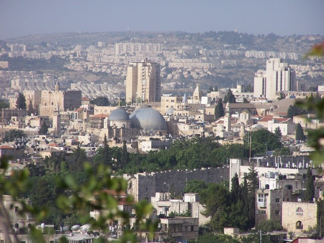 Church of the Holy Sepulcher from Mt Olives