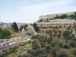 Kidron Valley - path by tombs