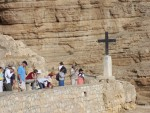 Wadi Qilt - And down,  with stops for devotions on the way.