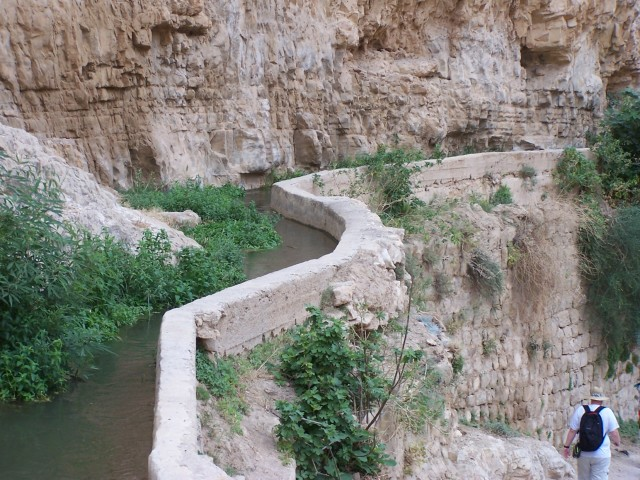 Wadi Qilt - A small aquaduct,  made to take the spring water to the city.  These have been key to life in the land of Israel since the beginning.