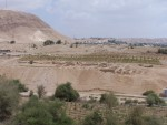 New Testament Jericho,  looking over the Wadi (small near the Dead Sea) and into the excavations of Herod's palace at Jericho