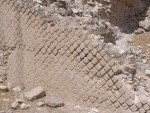 New Testament Jericho - Herod introduced building with the diamond shaped stones,  that could be stacked and interlocking made a strong wall.