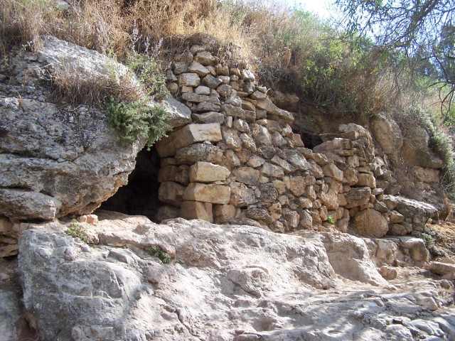 Sataf Nod - Cave, with constructed front wall