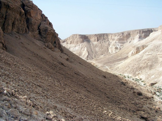 Masada - View from the seige ramp.