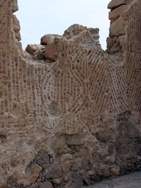 Masada - Mosaic Wall from Byzantine chapel