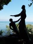 Tabgha - Statue, Jesus & Peter,  Do you love me Peter?