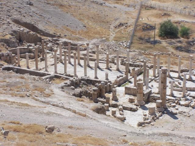 Pella - Bascilica view from excavation site
