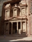 Petra - the Treasury.  For it's age,  the Treasure has held up remarkably well compared to other sandstone structures in this area.