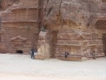 Petra - Accross from the treasury are additional tombs of much more modest configurations