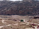 Petra - View from the Opposite valley wall Museum