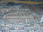 Medeba - The mosaic is made of various colors and it has 150 Greek inscriptions in various sizes.