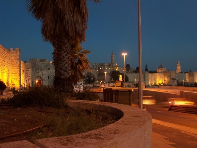 City Wall by Jaffa Gate