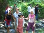 Tel Dan wading party