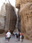 Awe at the canyon formation