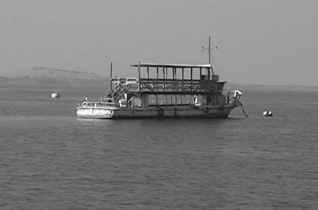 Boat in Black and White