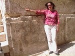 Katherine at the Temple Mount